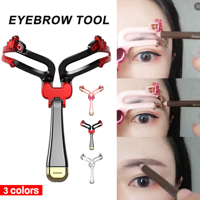 Newest Adjustable Eyebrow Shapes Stencil Women Girl Casual Eyebrow Mold Makeup Cosmetic Tool Artifact Party Gift 3