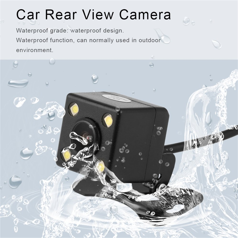 Universal 4 LED Light Rear View Camera Waterproof Full HD Wide Angle Car Back Reverse Camera Night Vision Parking Assistance