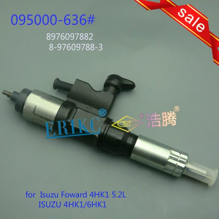 ERIKC injecteur 6365 véritable nouvel injecteur 095000-6365 Auto moteur Diesel Injection directe à rampe commune pour Isuzu 4HK1/6HK1