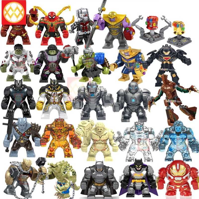 Large Big Size Building Block Avengers Super Hero Thanos Hulk Iron Man Spiderman Hulk Antman Batman Black Panther Toys For Kids