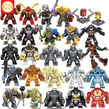 Grote Big Size Bouwsteen Avengers Super Hero Thanos Hulk Iron Man Spiderman Hulk Antman Batman Black Panther Speelgoed Voor kids(China)