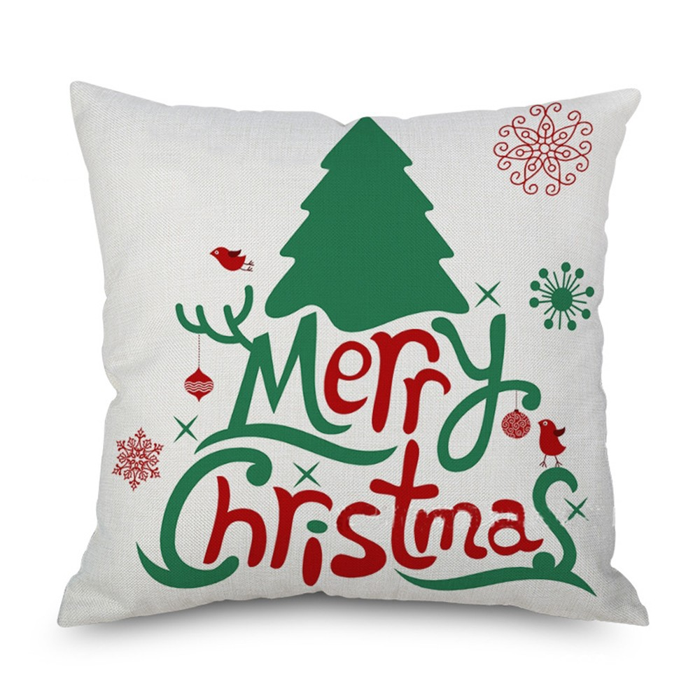 HOT 45x45cm New Year Christmas Decorations for Home Sofa Bed Pillow Case Cushion Cover Xmas Party Kids Gift