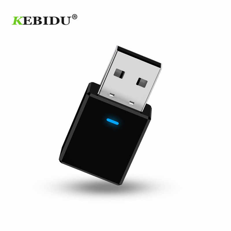 KEBIDU adaptador de Audio auxiliar USB Bluetooth Mini receptor Bluetooth 5,0 transmisor Jack de 3,5mm para TV Kit de coche adaptador inalámbrico