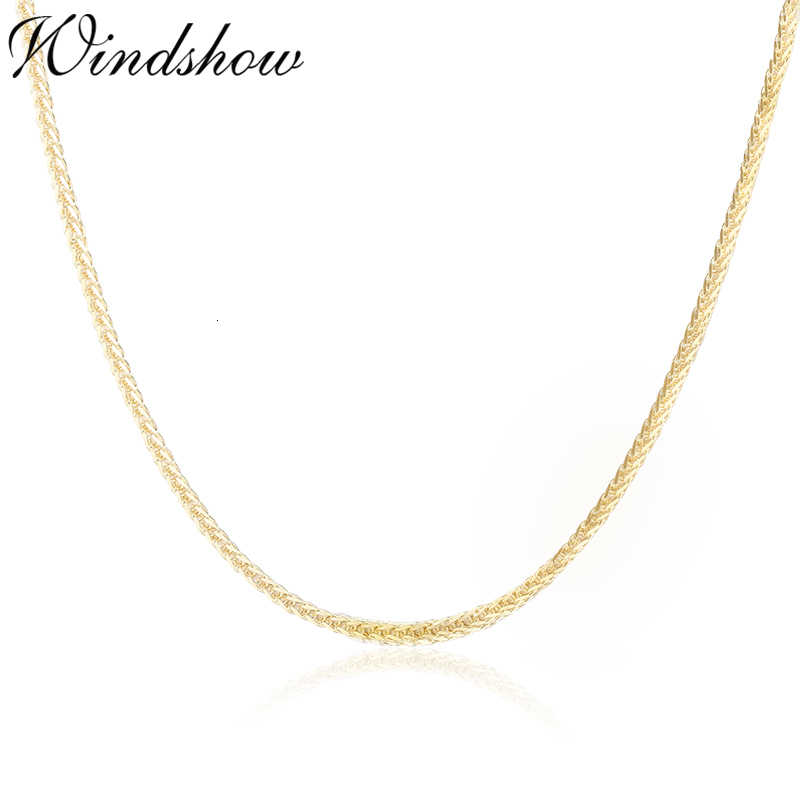 35cm-90cm 1mm 925 Sterling Silver Gold Color Chopin Chain Necklace Women Girls Baby Italy Jewelry Kolye Collane Collier Ketting