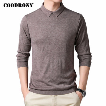COODRONY Brand Sweater Men Fashion Casual Collar Pull Homme Autumn Winter Soft Warm Cotton Knitwear Pullover Clothing C1124