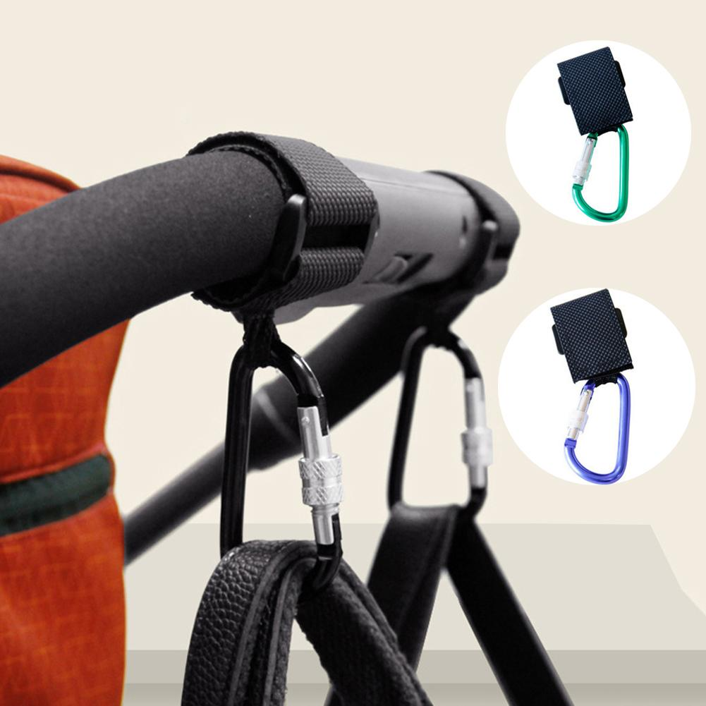 Universal Stroller Hook With Lock Alloy Pram Pushchair Stroller Hooks Diaper Shopping Bag Clip Carabiner The Max Load 30kg New