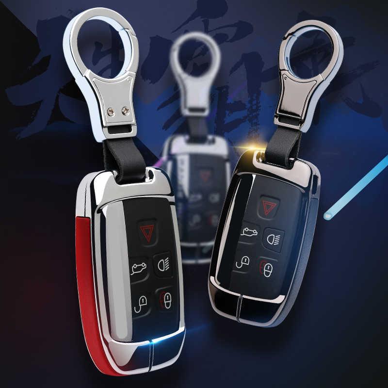 Couro caso chave do carro capa apto para land rover jaguar xj xjl xel xe chave auto proteger acessórios chave escudo proteção