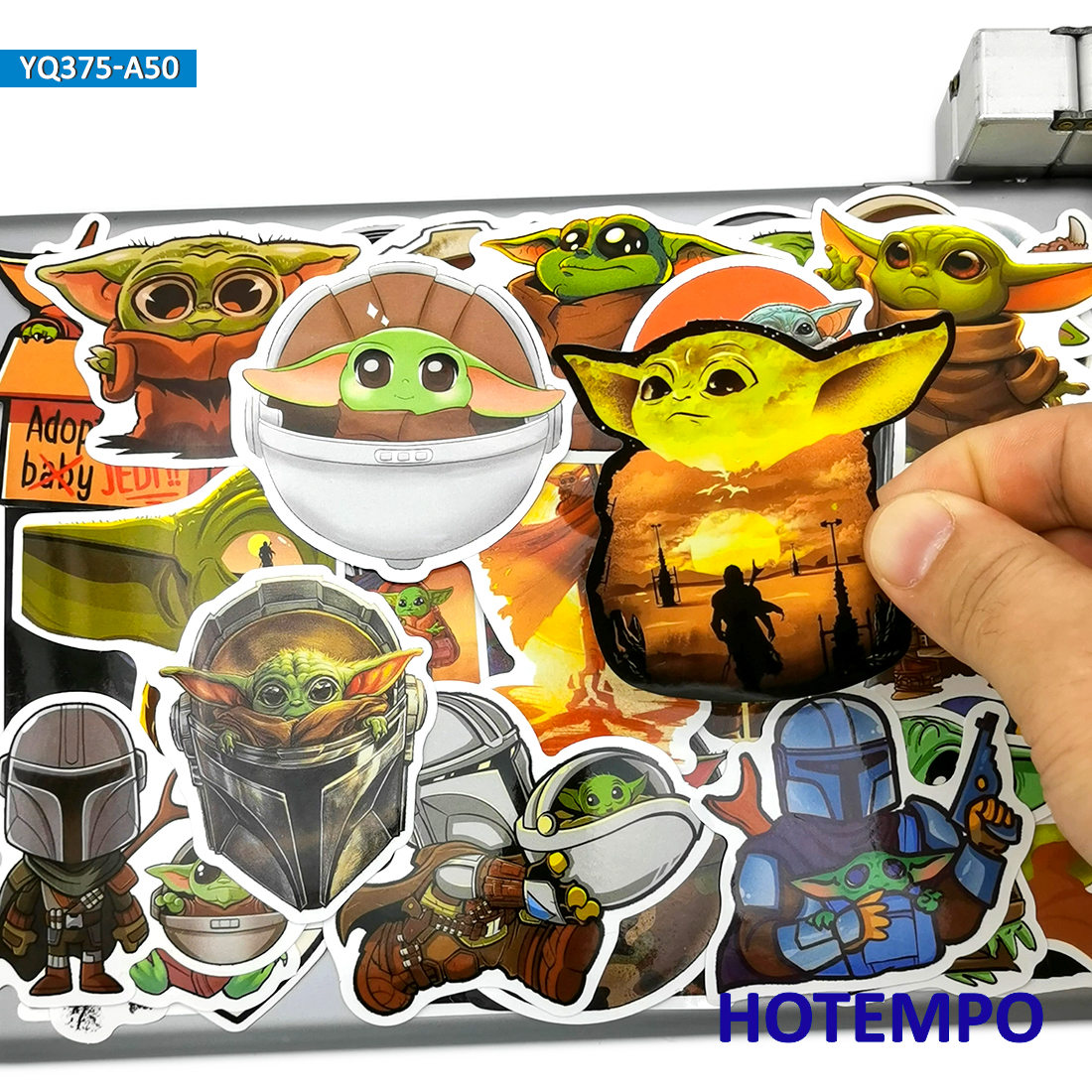 50pcs Cute Alien Baby ET Style Anime Stickers Toys for Kids Mobile Phone Laptop Suitcase Skateboard Bike Cartoon Decal Stickers(China)