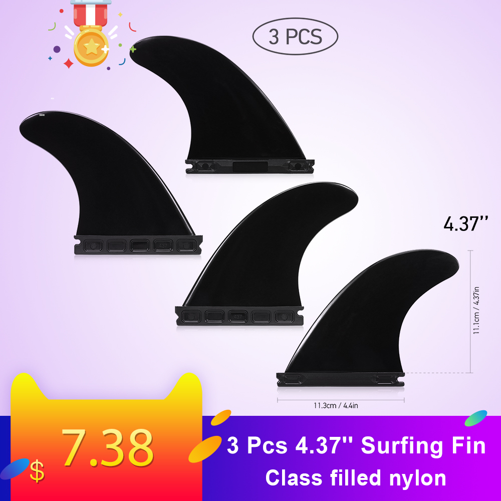 3 Packs 4.37'' Surfing Fin Set Surfboard Fins Sup Surfboard Paddle Board Future Fin Surfing Accessoires