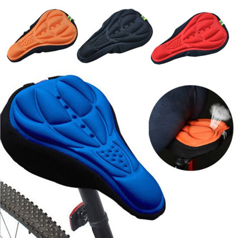 3D Silicone Gel Comfort MTB Bike Bicycle Cycling Saddle Seat Cover Cushion Pad