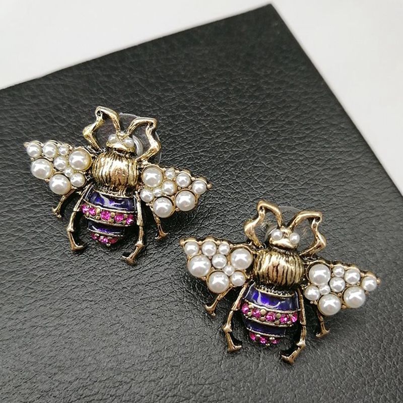 YDGY2019 New Retro bee ear studs temperament personality Earrings diligent small bee jewelry