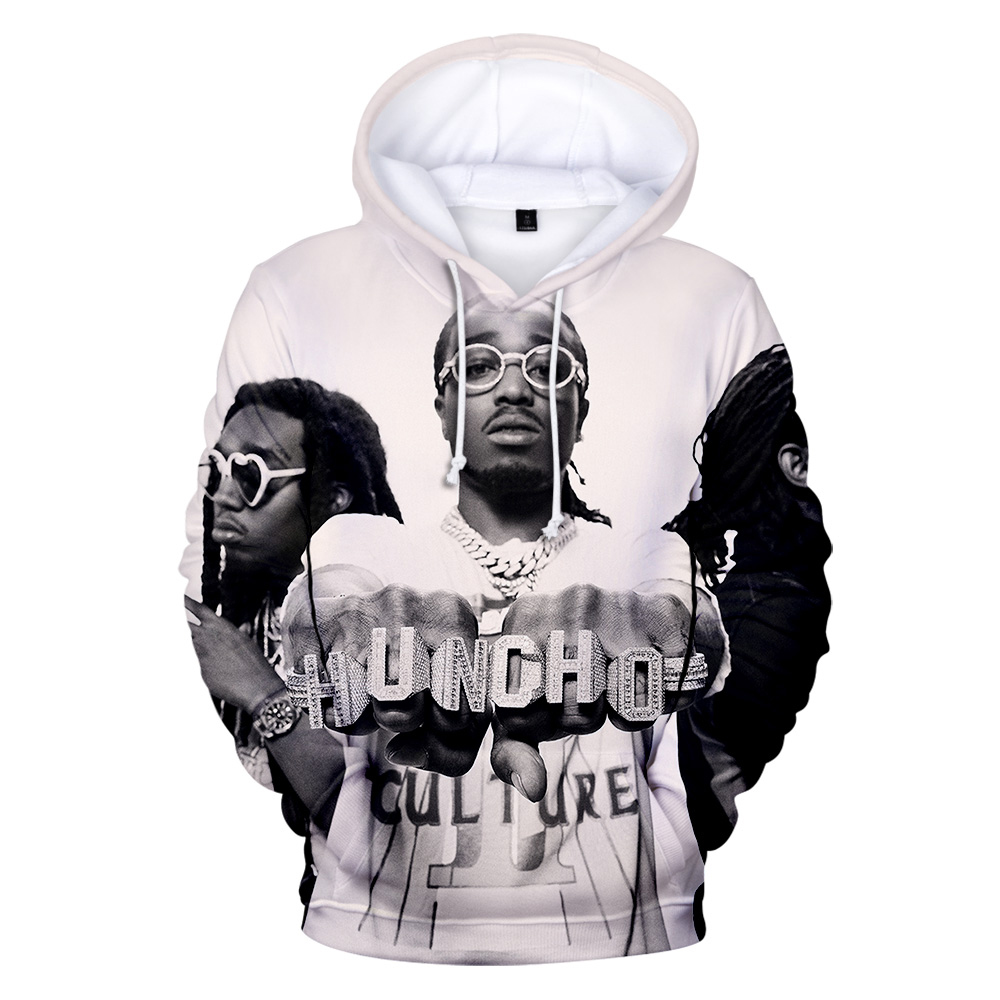 Band Migos Hoodie Men/Women Sweatshirt Hip Hop Streetwear Migos 3D Print Funny Hoodies Kids Size Pullover Warm Oversized