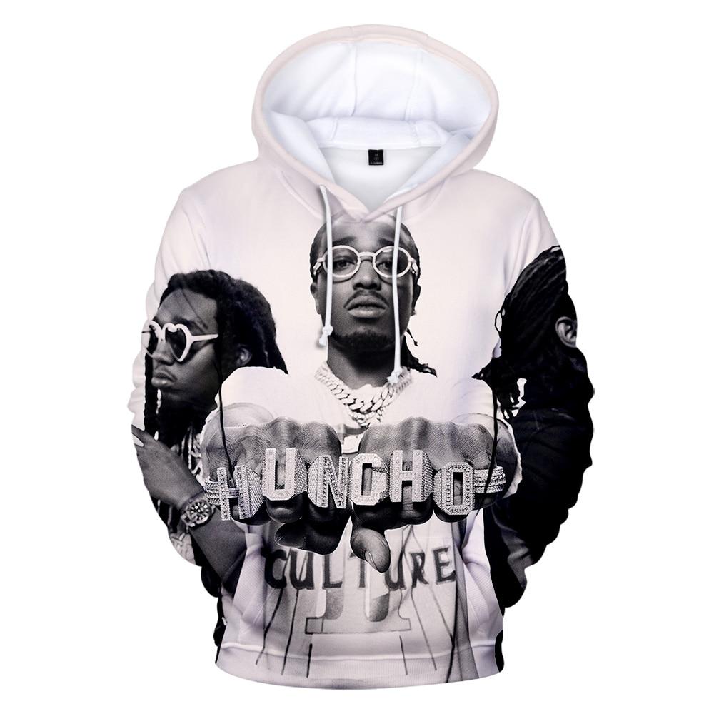 Band Migos Hoodie Men/Women Sweatshirt Hip Hop Streetwear Migos 3D Print Funny Hoodies Kids Size Pullover Warm Oversized