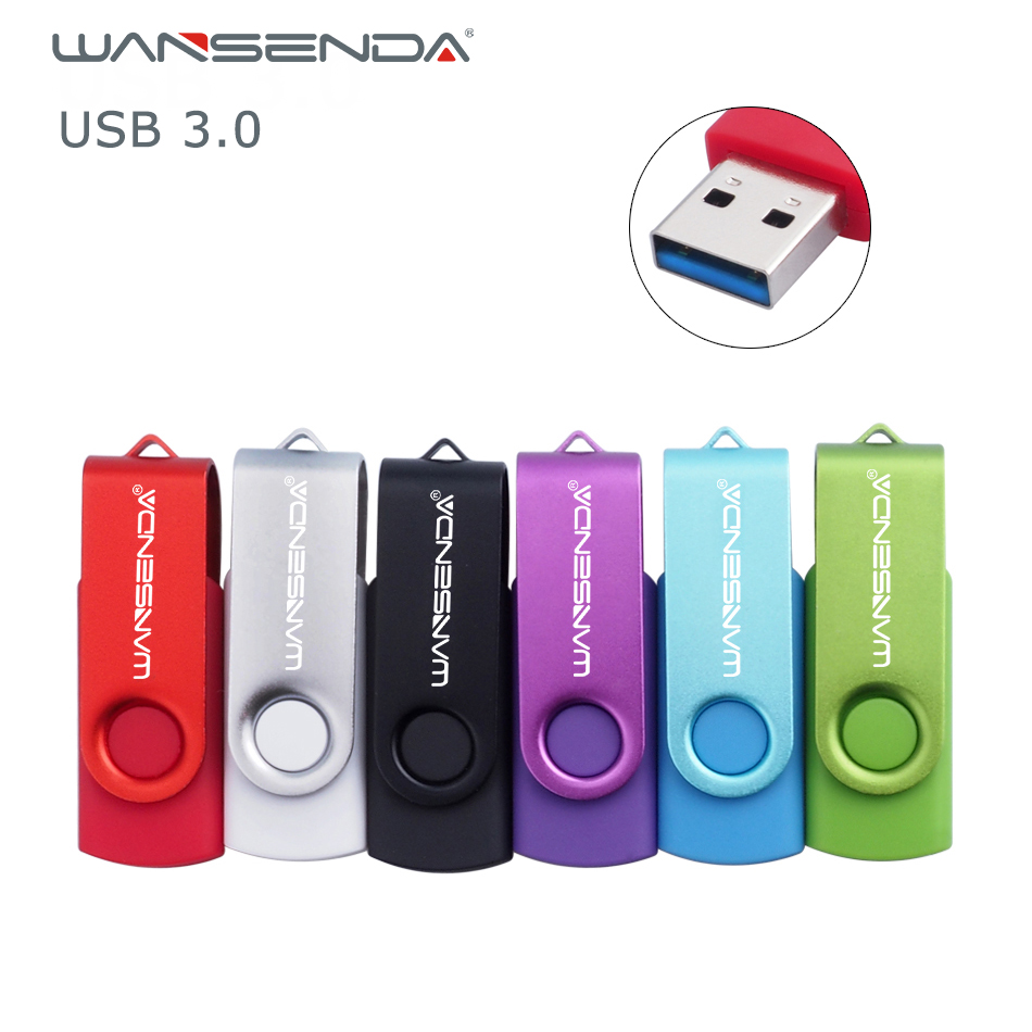 Wansenda USB 3.0 Mini Swivel Colourful USB Flash Drive Pen Drive 256GB 128GB 64GB 32GB 16GB 8GB Good Quality Pendrive