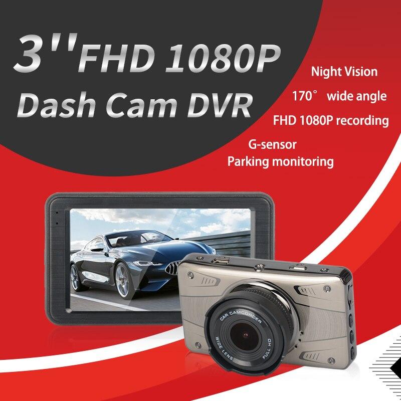 Cam DVR Driving-Recorder Camera Car Usb-Monitoring Dual-Lens Car Dash 1080P HD Reversing-Image