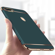 יוקרה ציפוי 3 ב 1 טלפון מקרה עבור Huawei Honor 30 20 10 9 8 לייט 8x 10i 20i מחשב קשה כיסוי לכבוד v10 v20 v30 פרו מקרה