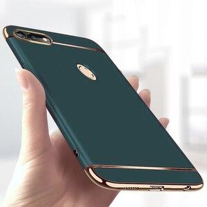 Image 1 - יוקרה ציפוי 3 ב 1 טלפון מקרה עבור Huawei Honor 30 20 10 9 8 לייט 8x 10i 20i מחשב קשה כיסוי לכבוד v10 v20 v30 פרו מקרה