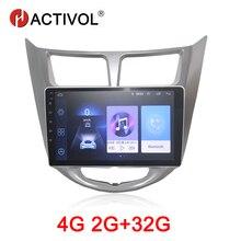 HACTIVOL 2G+32G Android 8.1 Car radio stereo for Hyundai Accent Solaris Verna i25 2011-15 car dvd gps player car accessory 4G hactivol 2 din car radio face plate frame for hyundai verna 2017 car dvd player gps navigation panel dash mount kit car products