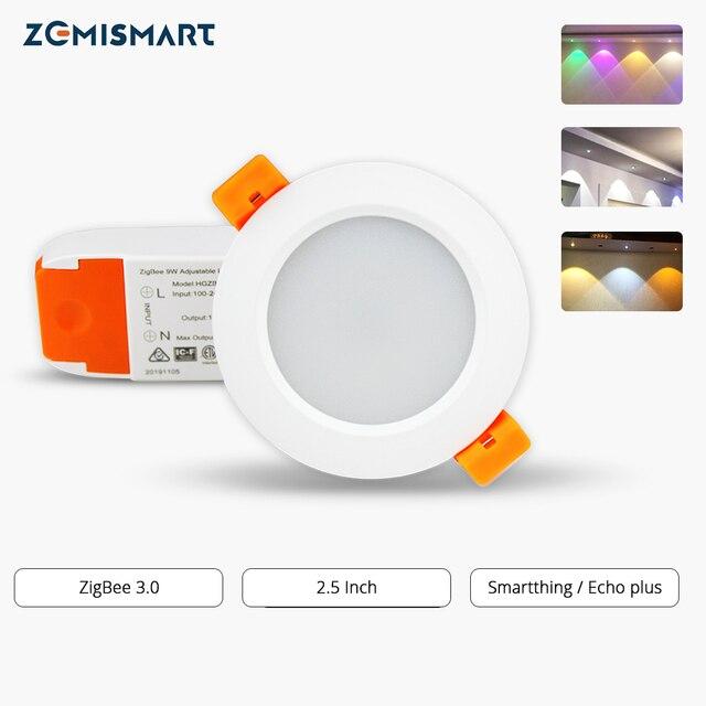 Zemismart Zigbee 2.5 Inch RGBW Downlight Led Light Echo Plus SmartThings Smart Lighting Solution