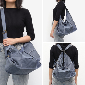 Image 2 - SC Vintage Genuine Leather Bag Shoulder Handbags for Women Large Casual Retro Girl Messenger Bags Handmade Patchwork Knapsack