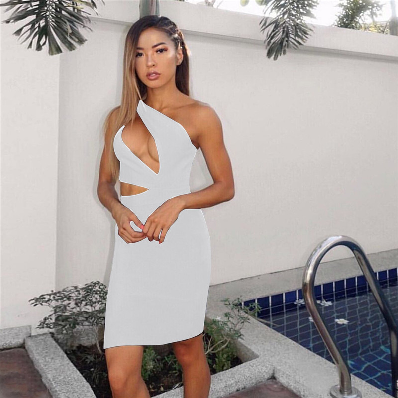 one shoulder bodycon dress13