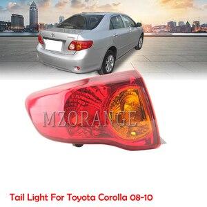 Image 1 - Mzorange amortecedor traseiro refletor luz para toyota corolla 2008 2009 2010 freio traseiro amortecedor da cauda luz montagem do carro