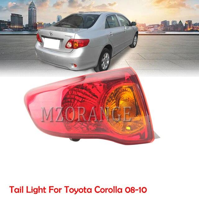 Mzorange amortecedor traseiro refletor luz para toyota corolla 2008 2009 2010 freio traseiro amortecedor da cauda luz montagem do carro