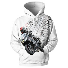 Casual 3d Hoodie For Men 3d Pullovers Sweatshirts Men Movie Shark Motorcycle Fire Hooded Hoodies 5XL Outwear 3d Print Casual