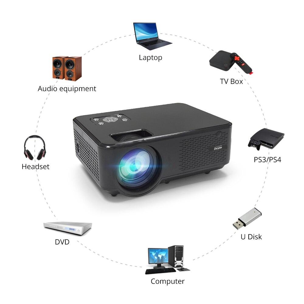 Everycom M8 mini Projetor 720P Apoio Max 1080P Beamer AC3 Áudio Android 6.0 Bluetooth Wi-fi De Vídeo LEVOU 4000 Lumens Home Theater,Este é um código de desconto 50 menos 7: DISC7-4