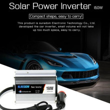 Vehicle 150W Car Power Solar Inverter DC 12/24V to AC 110/220V Voltage Sine Wave Converter Charger Adapter стоимость