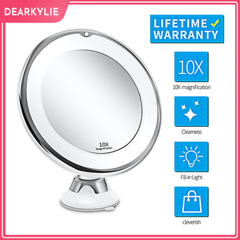 Makeup Vanity Mirror With 10X Lights LED Lighted Portable Hand Cosmetic Magnification Light up Mirrors VIP Link Dropshipping