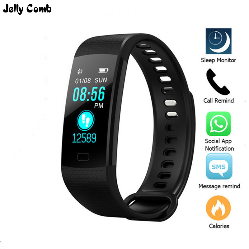 Gelee Kamm <font><b>Smart</b></font> Uhr IP67 Wasserdichte Fitness <font><b>Smart</b></font> Armband Herz Rate Tracker Monitor Smartwatch Reloj Digital <font><b>Mujer</b></font> Uhr image