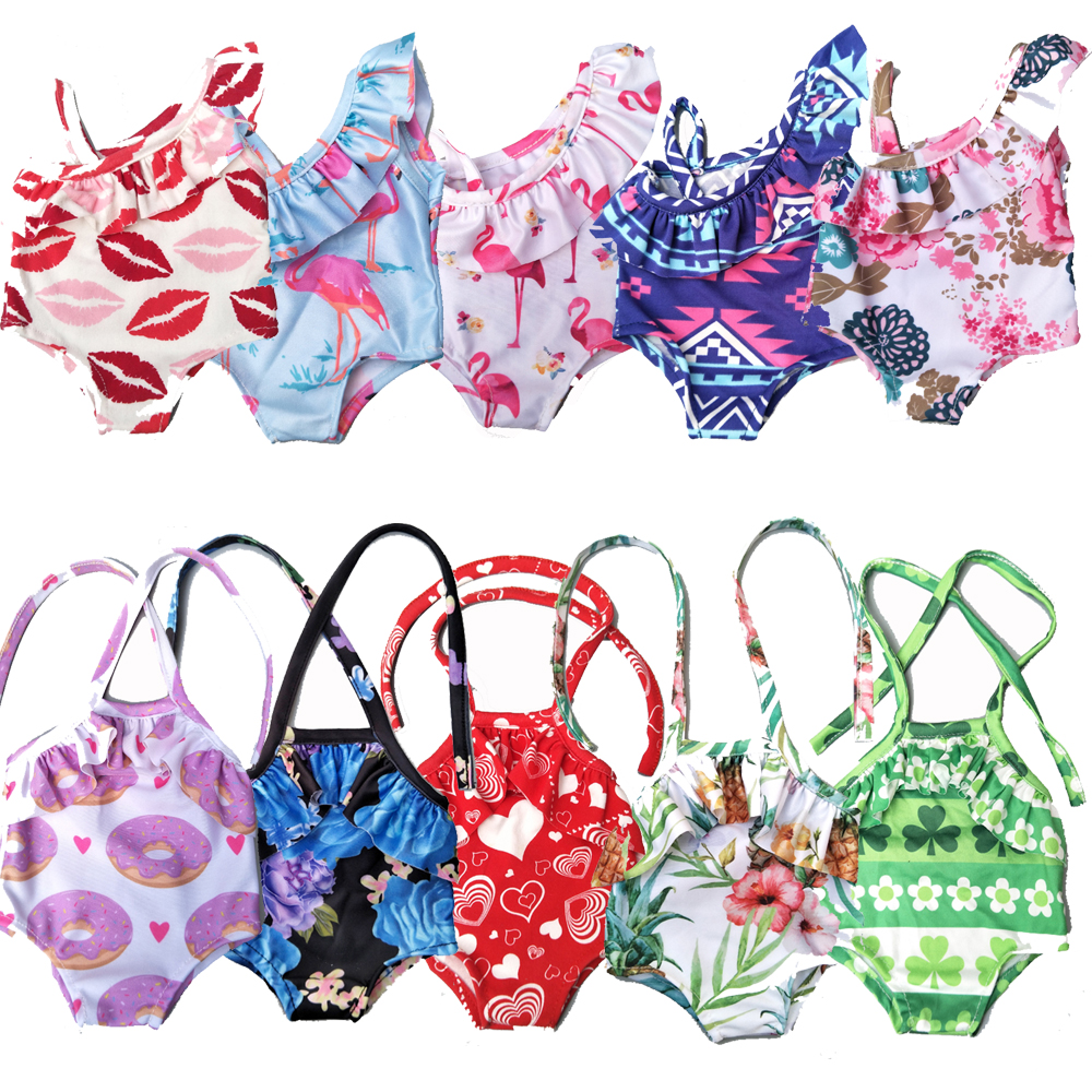 Doll swim clothes for 43cm baby doll dress doll swimsuit 18