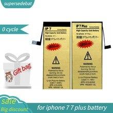 Supersedebat 0 ciclo batterie para iphone 7 bateria para iphone 7 para iphone 7 plus 7 plus bateria de reparação fazer telefone