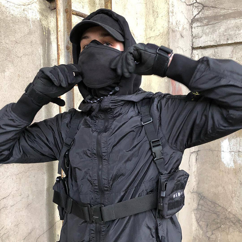 Unisex Chest Rig Bag Tactical Streetwear Chest Bag Functional Tooling Hip Hop Vest Bags Two Pockets Men Fanny Pack Kanye West