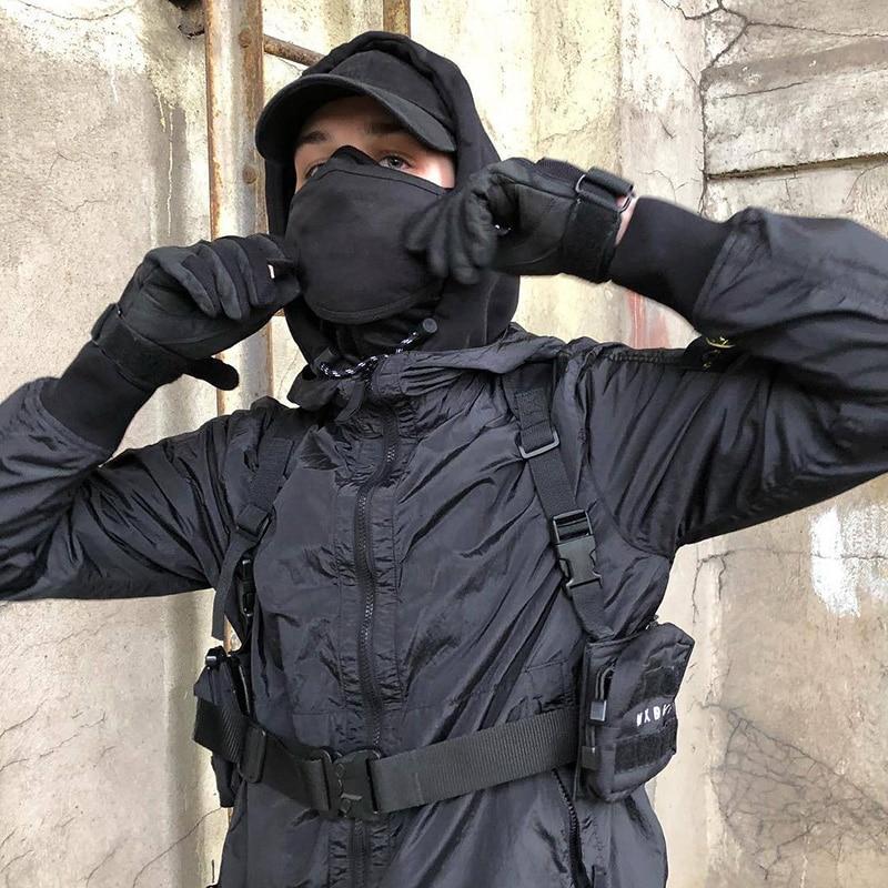 Нагрудная сумка унисекс, тактическая уличная нагрудная Сумочка, функциональные инструменты, жилет в стиле хип-хоп, сумки с двумя карманами, ...
