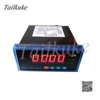 Sx48 medidor de frequência  medidor de frequência do medidor de tacômetro com display digital de 10v 4-20ma  transmissão dp3 rpm