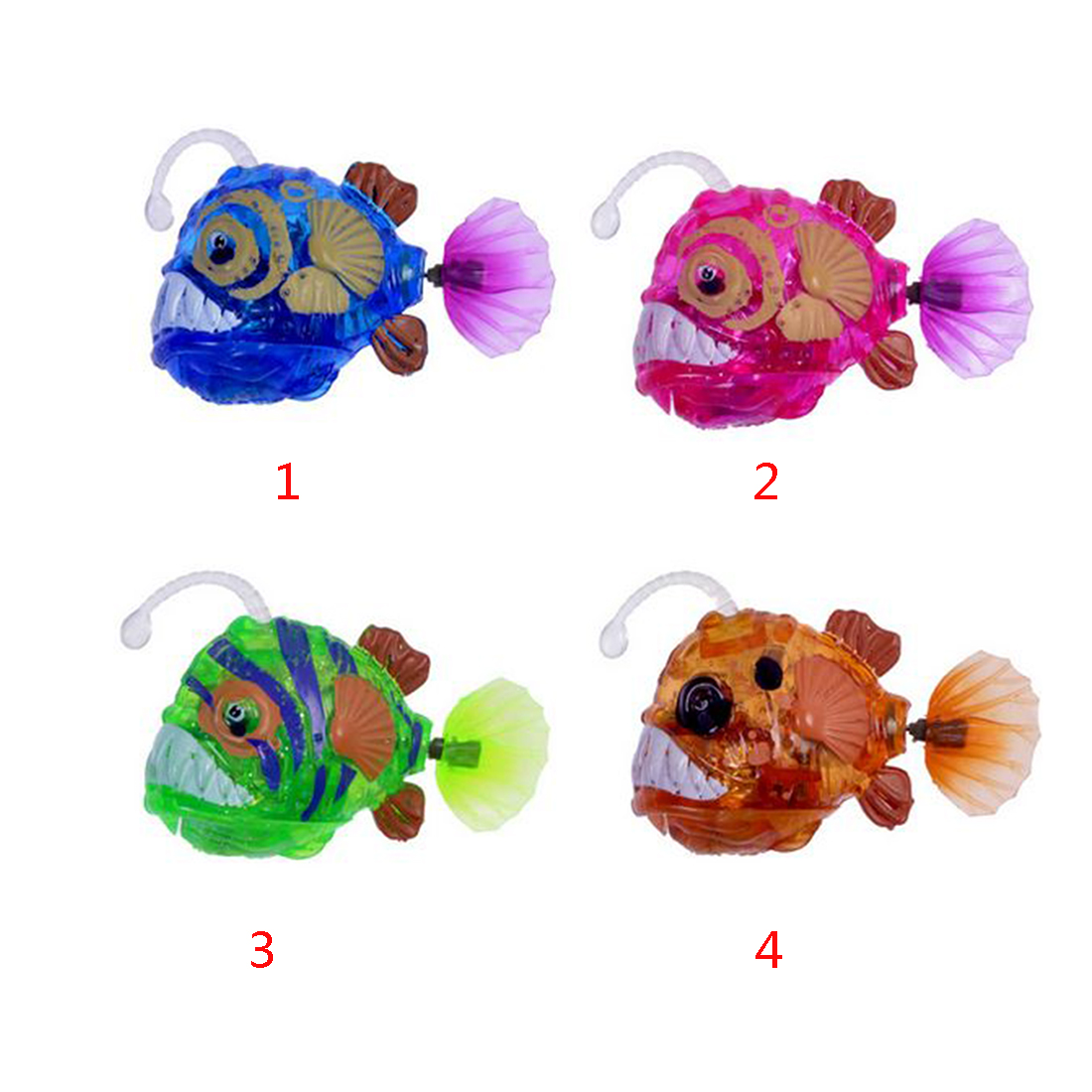 Electronic Flashing Swim Fish Toy Funny Interactive Toys Intellectual Development Activated Battery Fish Baby Kids