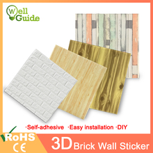 3D Wall Stickers Brick Waterproof DIY Self-Adhesive Decor paper For Bedroom Kids Room Living