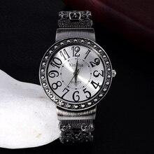 Fashion Vintage Bangle Watches Women Ladies Gun Black Womens Quartz montres femme horloge dames
