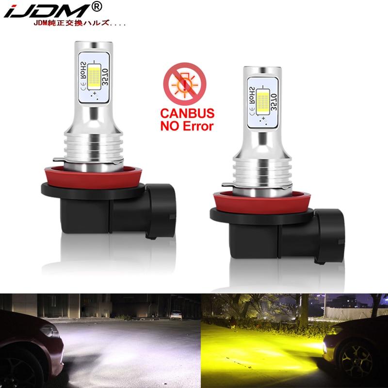 IJDM Canbus H8 H11 LED Bulbs For Lada Kalina Granta Vesta SW Larina NIVA II Priora XRAY LED DRL Fog Light Bulb Lamp 6000k 3000k