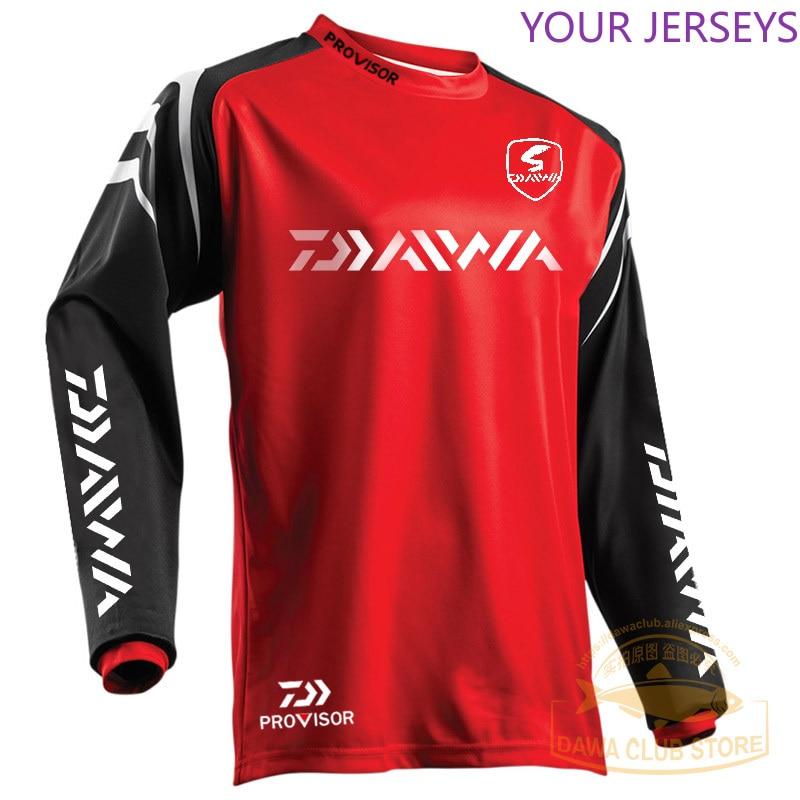 DAIWA Fishing Clothing Quick-Drying Sun UV Protection T Shirt Vests Sports Clothes Fishing Clothes Fishing Shirts Cycling Wear
