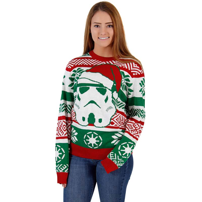 Women Men Christmas Sweater Autumn Warm Winter Classic Printed Knitted Pullovers Plus Size Streetwear Long Sleeve Casual Clothes