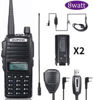 "baofeng uv Baofeng מכשיר הקשר UV-82 Ham Dual-Band 136-174 / 400-520 MHz FM 8 וואט סוללה 2800mAh שני Waterproof רדיו דרך, מקמ""ש (1)"