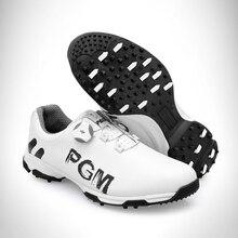 Новое поступление, обувь для гольфа, PGM, мужская спортивная обувь, водонепроницаемые, противоскользящие, спортивные кроссовки, мужские, с пряжкой, шнурки, обувь для гольфа, мужские