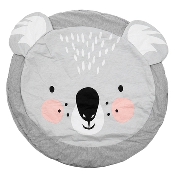 90CM Kids Play Game Mats Round Carpet Rugs Mat Cotton Crawling Blanket Floor Carpet For Kids Room Decoration INS Baby Gifts Koal 2017 hot sale fashion baby blanket game mat bear blanket baby tiger blanket animal carpet warm bear play mats autumn winter