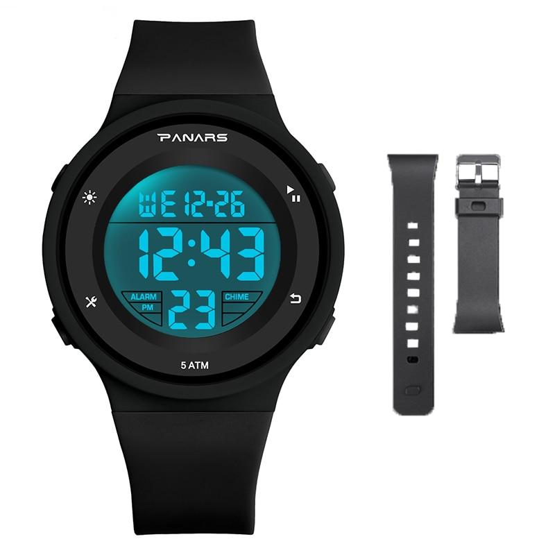 SYNOKE Спорт Дети% 27 Часы LED 50M Водонепроницаемый Будильник Часы Дети Цифровые Часы Студент Наручные часы для Мальчиков Девочек