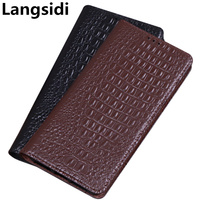 Natural genuine leather magnetic phone bag standing flip case for Samsung Galaxy A60/Samsung Galaxy A70 phone case funda coque