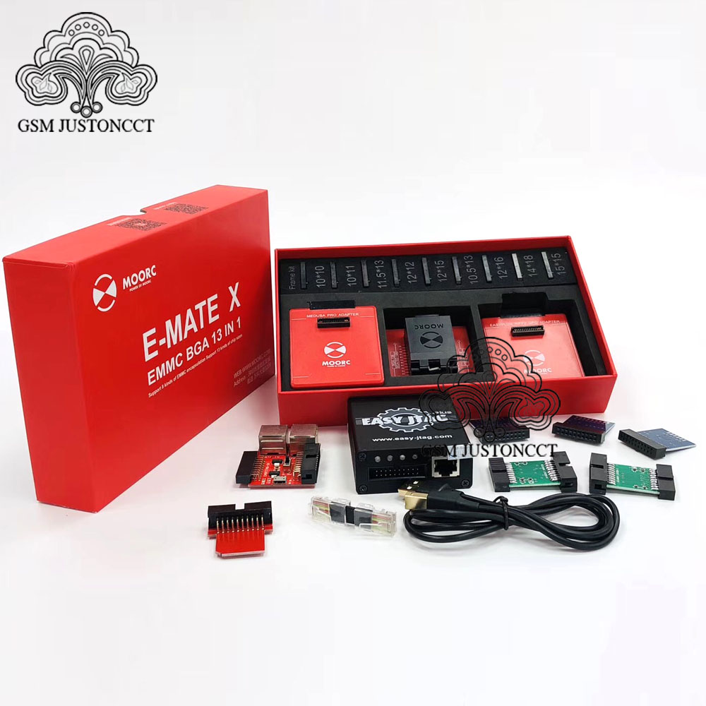 2020 Original New Z3x Easy Jtag Plus Box  Set And ICFRIEND EMMC Moorc E-mate Emmc Socket Bga X 13 In 1