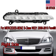 цена на MagicKit LED DRL Daytime Running Light Fog A2218201856 For Mercedes BENZ S-Class W221 S350 S500 2009 2010 2011 2012 2013